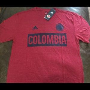 Adidas Columbia Soccer T-Shirt Size Large Mens NWT